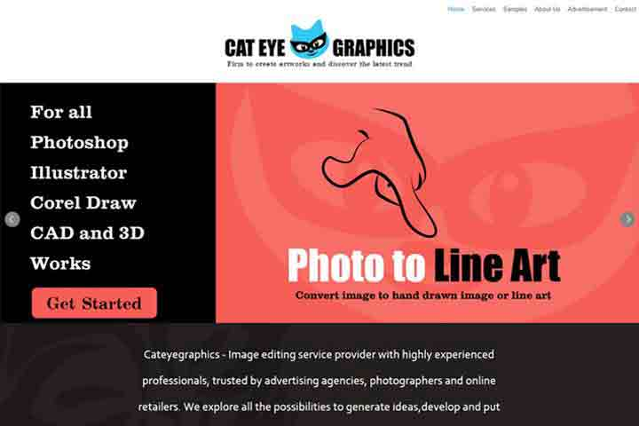 web  development Template cateyegraphics