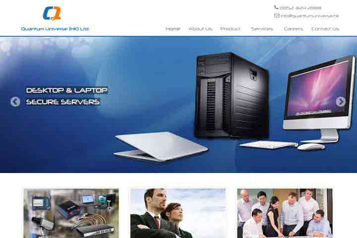 web  development-quantum-universe-template