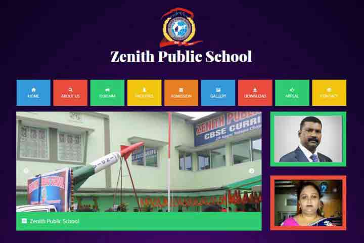 web  development Template zenith school